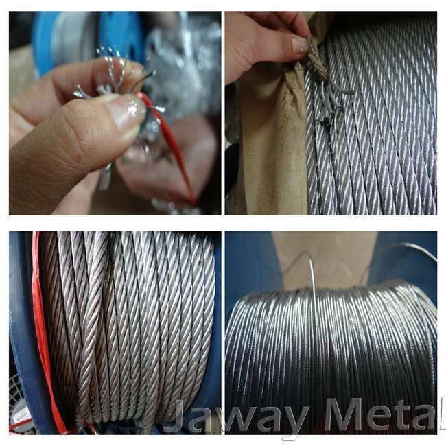 galvanized wire rope with 7x19 constructure D12