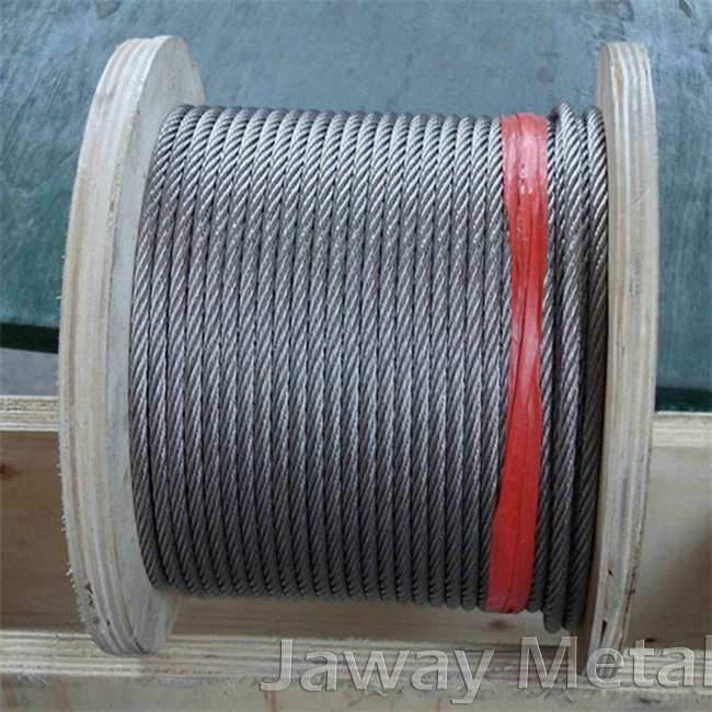 Galvanized or Bright 6*37+FC Steel Wire Rope