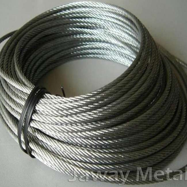 6x37 standard bright steel wire ropes