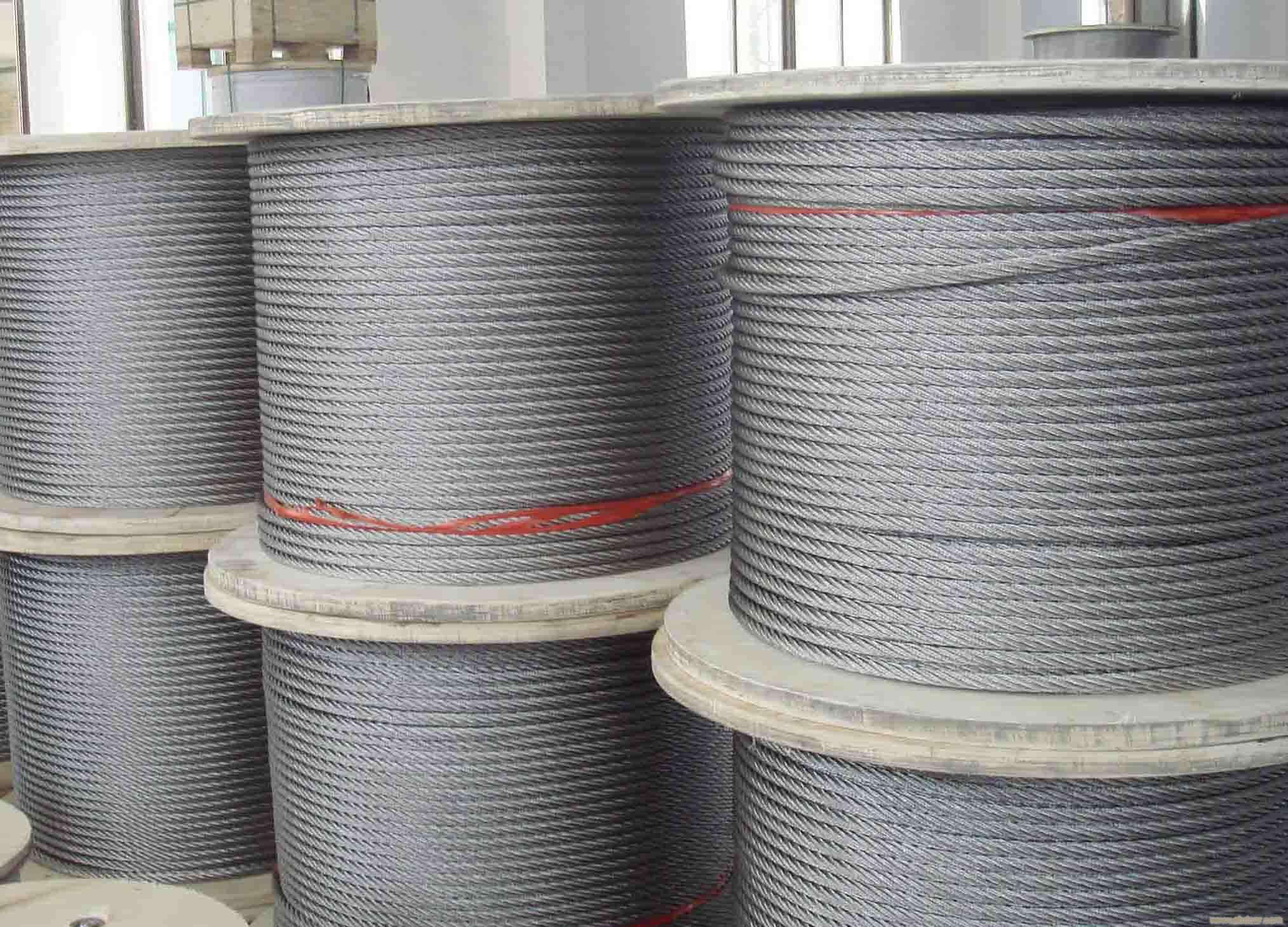 <strong>316L 6x19 stainless steel rope for fishing</strong>